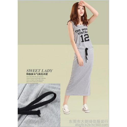 2015厂家批发直销便宜洛丽塔式时装铅笔裙百搭连体莫代尔长裙装