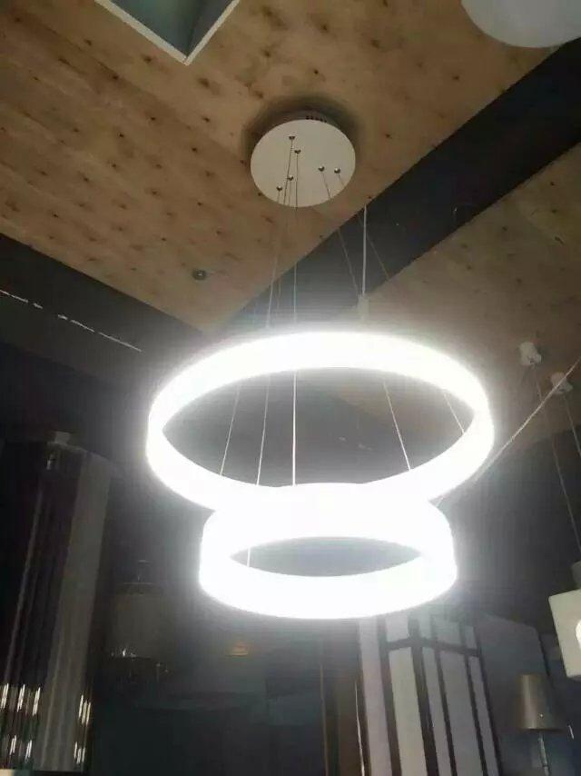亚克力吊灯灯罩圆管圆环灯罩单环多环可选厂家直销