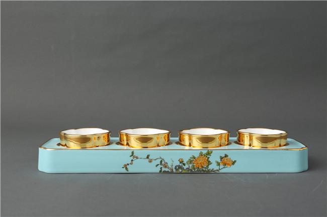 景德镇陶瓷办公四件套批发价格